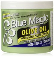 Blue Magic Olive Oil Leave-In Styling Hair Conditioner 390 g